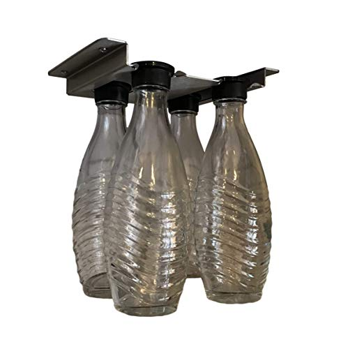 Hängehalterung kompatibel für Sodastream Crystal Flaschen Schrank-Unterbau