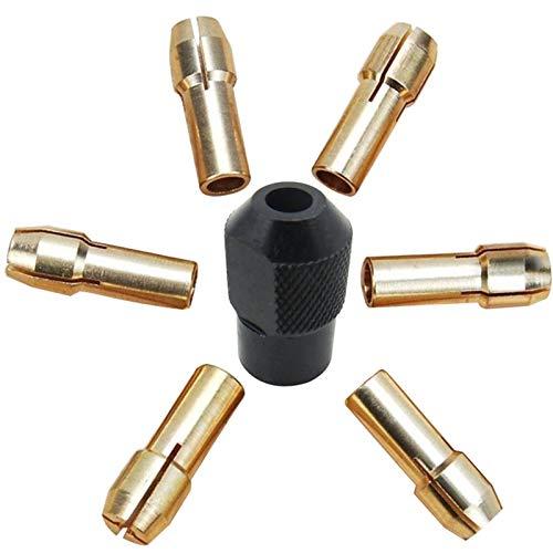 7pcs Chuck de latón 1.0-3.2mm Micro Twist para la herramienta eléctrica de...