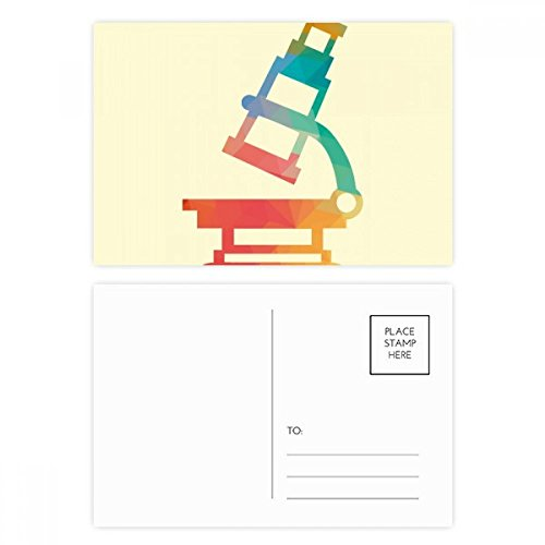 DIYthinker Cartoon Microscope Chemie Patroon Postkaart Set Verjaardag Thanks Card Mailing Side 20 stks 5.7 inch x 3.8 inch Multi kleuren
