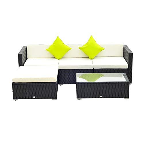 Outsunny 5PC Rattan Furniture Set