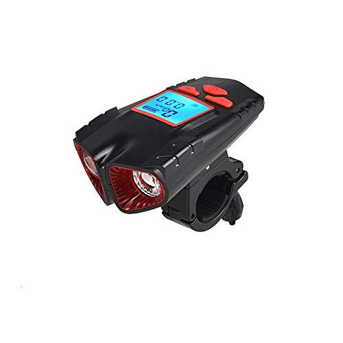 Bdesign Bicycle Front and Rear Lights, USB Rechargeable Wireless Computer Light + Horn Bell, Used for Waterproofing of Hybrid Roads of Mountain Bikes and Bicycles