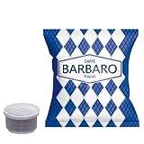 100 Capsule Caffe Barbaro Compatibili Toscano Tostato Cremoso Napoli Miscela Blu, solo per Macchine che utilizzano Capsule con Diametro da 28mm