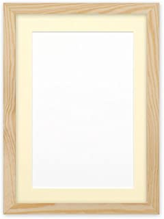 Confetti Wood Frame Range 20 Mm Photo Frame Picture Frame Poster Frame A3 for A4 Pictures Oak with Ivory Bespoke Matt