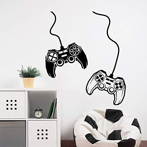 Controlador de videojuegos Gamepad Joystick Gamers Zona de juegos Etiqueta de la pared Vinilo artístico Calcomanía Niño Niños Dormitorio Sala de estar Sala de juegos Studio Club Decoración p