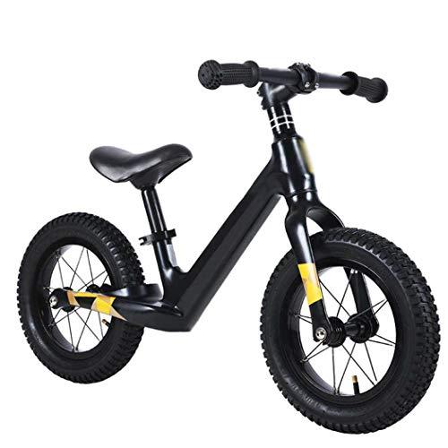 PPQQBB 2-6 Anni Bilancia Bilancia Nessuna Pedale Bike Beginners Toddler Training Bike Gommoni Gommini Pneumatici di Gomma Sospensione Posteriore Ammortizzatore Ammortizzato Black