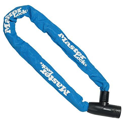 MASTER LOCK Fahrradschloss Stahlkettenglied [mit Schlüssel] [90 cm Kette] [Blau] 8391EURDPROCOLB - Ideal für Fahrräder