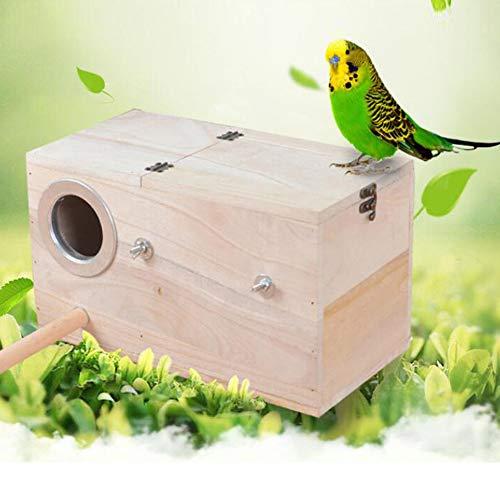 YUOKI99 Großsittichkobel Nestmulde Anflugstange Hölzerne Vogel Nistkasten, Sittich Wellensittich Kanarienvogel Zucht Box, Vogel Schachteln Feeding Station House(S)