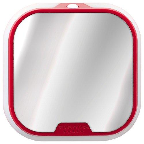 """Five Star Locker Accessories, Locker Mirror and Locker Light, 4-1/2"""" x 4-1/2"""", Red (73591)"""