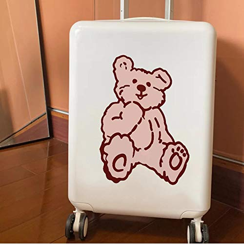 YUHANG Little bear suitcase stickers large whole cute suitcase trolley case wall decoration stickers waterproof