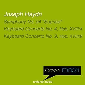 """Green Edition - Haydn: Symphony No. 94 """"Surprise"""" & Keyboard Concertos Nos. 4, 9"""