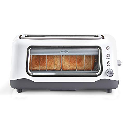 Dash Clear View Extra Wide Slot Toaster with Stainless Steel