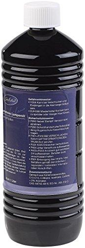 Carlo Milano Lampenöl geruchlos: Geruchsfreies Lampenöl für innen und außen, 1 Liter (Petroleumlampe für Innenräume)