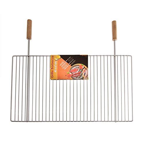 Ruecab 1075Griglia semplice per barbecue in acciaio...
