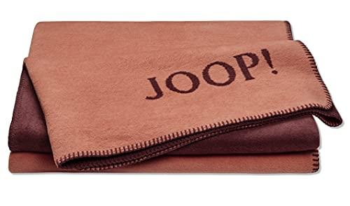 Joop! Uni Doubleface Wohndecke Orange-Bordeaux, 150x200 cm