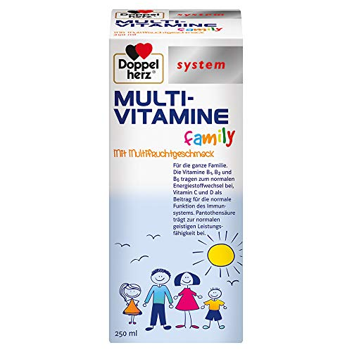 Doppelherz system MULTI-VITAMINE family – Vitamin C und D als Beitrag für die normale Funktion des Immunsystems – 250 Milliliter