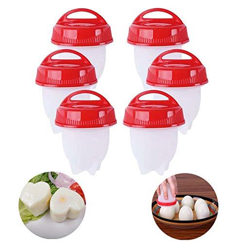MaikcQ Eierpochierer, Eierkocher, hartgekochte Eier ohne Schale, 6 Eierbecher