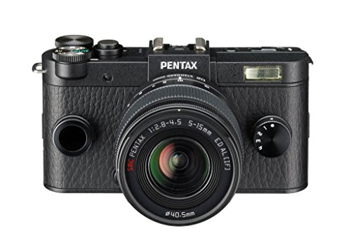 Pentax Q-S1 Systemkamera (12 Megapixel, 7,6 cm (3 Zoll) HD-LCD-Display, bildstabilisiert, DRII Dust Removal System, Full-HD-Video, HDMI) Kit inkl. 5-15 mm Objektiv schwarz