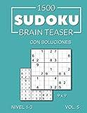 1500 Sudoku Brain Teaser 9x9 con soluciones Nivel 1-3 Vol. 5