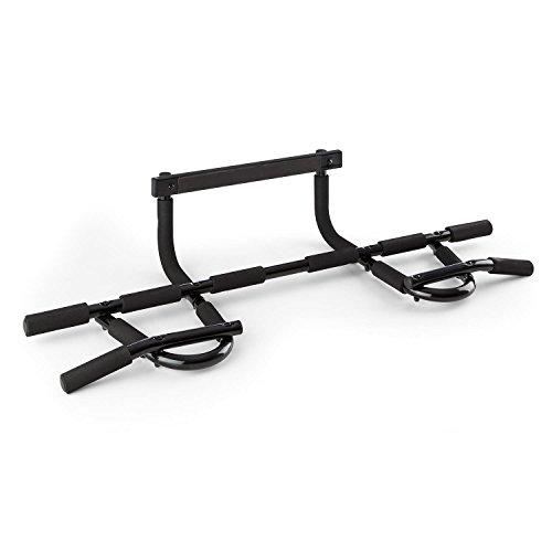 Klarfit Türreck stabile Klimmzugstange für Tür- & Türrahmen (6-Griffgruppen, bis 150 kg, inkl. Montagematerial) schwarz