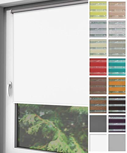 Home-Vision® Verdunkelungsrollo Klemmfix, ohne Bohren mit Klämmträgern, Fensterrollo, Seitenzugrollo, Verdunklungsrollo, Lichtundurchlässig Thermorollo (Weiß, B75cm x H220cm)