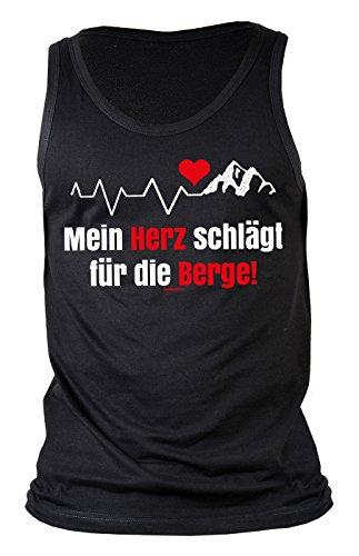Männer/Kletter-Top/Träger-Shirt/Tank Top/Herren-Top/Thema Wandern: Mein Herz schlägt für die Berge! für Gipfelstürmer
