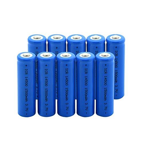 RitzyRose Batería De Iones De Litio De ICR 14500 3.7v 1500mah, BateríAs para Linterna Modelo aéRea del MicróFono 10pieces