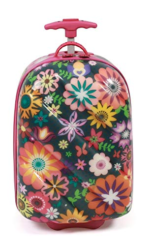Bayer Chic 2000 Kinder-Trolley, Hartschale, Flowers Kindergepäck, 46 cm, 14 Liter, Flowers