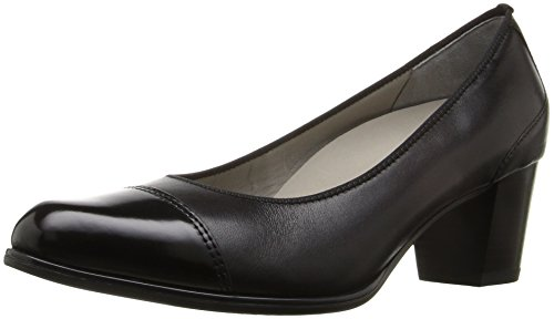ARA Women's Mckinley Dress Pump, Black Calf/Sivato Toe, 6 M US