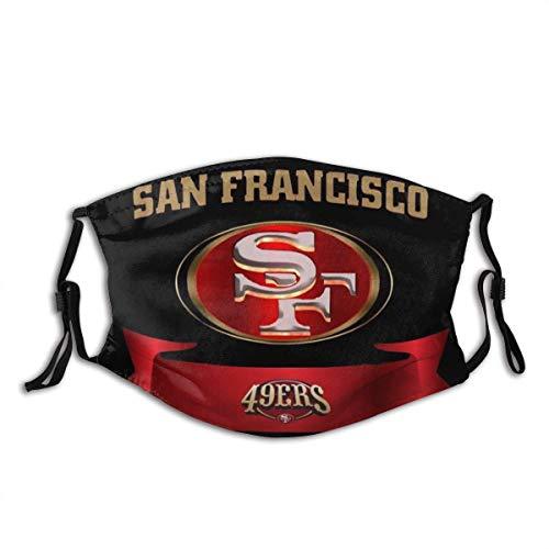 Mundschutz San Francisco 49ers Logo 3D-Druck 2 Unisex waschbare und Wiederverwendbare warme Baumwollgesichtsdekorationen für den Außenbereich