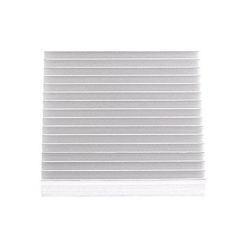 Warmteverdeler aluminium, koelkast, goede warmtegeleiding, zilver, 100 x 100 x 18 mm