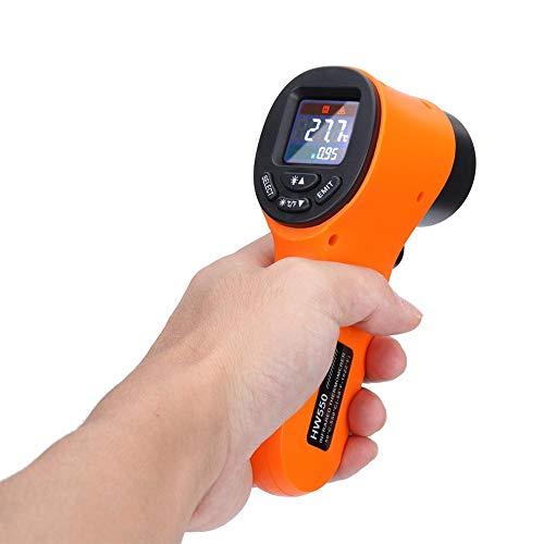 Termómetro infrarrojo, pistola temperatura láser digital, sin contacto, lectura instantánea, -58 ° F a 1022 ° F con pantalla LCD, cocinas industriales automotrices, cocinas y barbacoas termostato