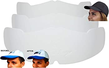 3Pk. White Manta Ray Baseball Caps Crown Inserts For Low Profile Caps  Hat Shaper  Hat Stretcher  Hat Crown Stiffener  Flex-fit Hat Support  Hat Padding  Hat Cleaning Aide  Cap Storage Aide  100% MBG.