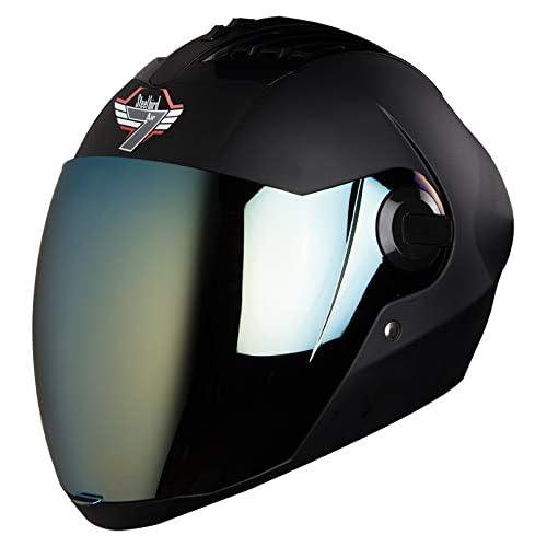 Steelbird SBA-2 7WINGS Full Face Helmet In Matt Finish with Tinted Visor (Medium 580 MM, Matt Black/Gold Visor)