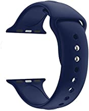 Croiky Soft Silicone Strap Compatible with iWatch 44 MM Series 4 -Blue