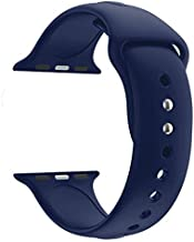 Croiky Soft Silicone Strap Compatible with iWatch 44 MM Series 4 and Series 5 - Blue