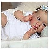 MuñEca De Silicona Renacimiento, 22 Inch 55 Cm NiñA Renacida, Suave Al Tacto MuñEca Reborn NiñA Vinilo Silicona, For 3-10 Baby Gifts