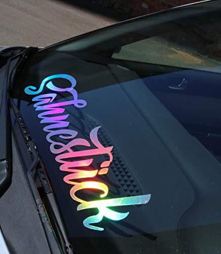 Sahnestück Aufkleber Autoaufkleber i Love My CAR Frontscheibenaufkleber für Autotreffen Tuning Sticker, frauenaufkleber, Girl Sticker, vwsisters