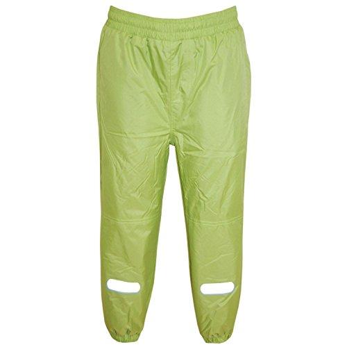Outburst - Jongens regenbroek matschbroek skibroek fleece voering waterdicht, donkerblauw