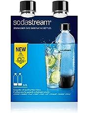 SodaStream DuoPack 2x 1L Tritan-fles - vaatwasmachinebestendig! (BPA-vrij) - reservecoating voor SodaStream bruiswatertoestellen met PET-flessen