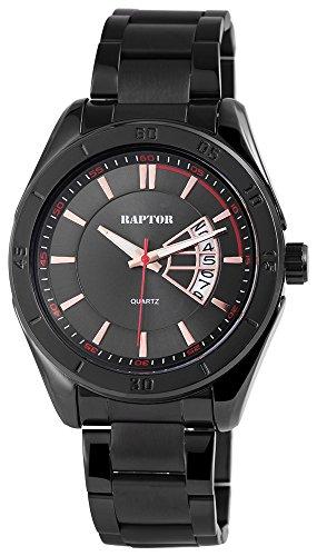 Raptor 285971000031 - Orologio da polso analogico in acciaio INOX, colore: Nero