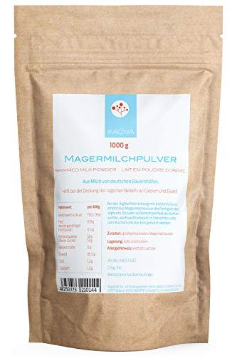 Magermilchpulver 1Kg für Joghurt, zum kochen und backen oder als Kaffeeweisser - perfekt für die lange Lagerung von Milchprodukten