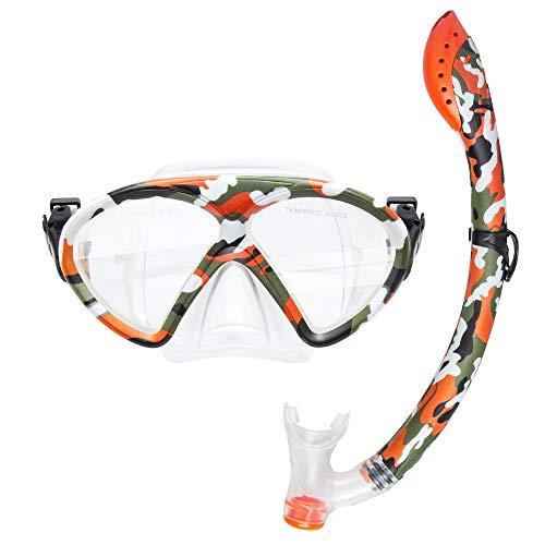 Ironhorse Gafas de buceo de fibra de carbono para adultos para transferencia de agua, traje seco, diadema ajustable para hombres y mujeres, máscara de vidrio templado resistente a los impactos