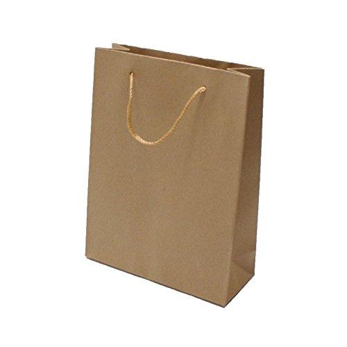 12 grands sacs en papier kraft brun naturel unis 38x12x50cm - 6804