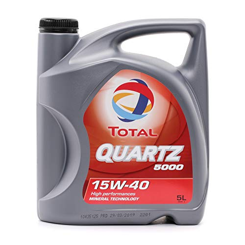 Total Quartz 5000 TOT-148645 15W-40 - Aceite de Motor, 5 litros