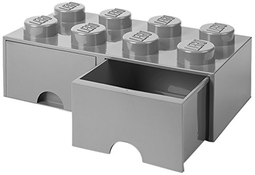 LEGO 4006 Aufbewahrungsbox, Plastik, Legion/m. Stone Grey, 50 x 25 x 18 cm