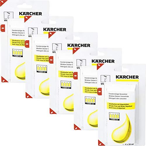 Kärcher Fensterreiniger Konzentrat 4 x 20ml, 5er Pack (20 x 20ml)