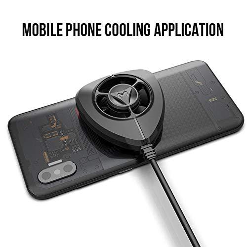 JASZW Ventilador de refrigeración portátil Gamepad Game Handle Radiador Enfriador de teléfono móvil…