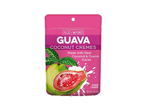 ALE + WANG Guava Coconut Cremes Hard Candy | Made with Natural Guava Juice and 100% Pure Coconut Milk | Great Alternative to Chocolate, Caramel, and Toffee (1-Pack)