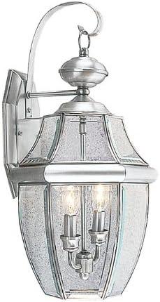 Livex Lighting 2251-91 Cash special Max 41% OFF price Monterey 2 Brushed Outdoor Nickel F Light