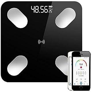 Báscula de baño digital Pérdida inalámbrica digital inteligente de grasa corporal Escala LCD Bluetooth IMC Peso Health Monitor Analizador de Peso Escala Herramienta báscula de baño báscula peso corpor